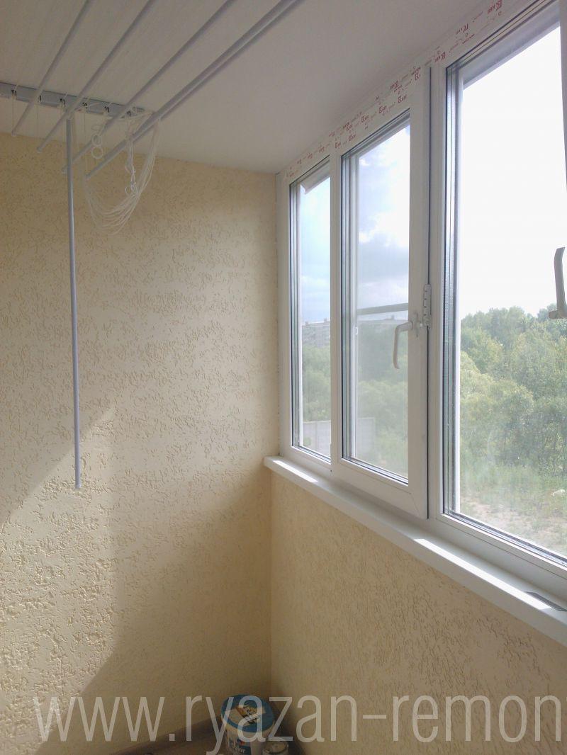 Отделать балкон декаративной штукатуркой для наружных работ..