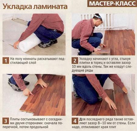 Укладка ламината пошаговая инструкция ютуб